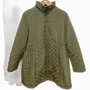 🌷 Laundry By Design Olive Green Quilted Coat XL